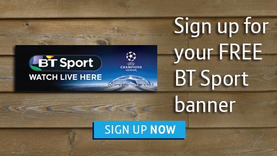 Sign up for your FREE BT Sport banner