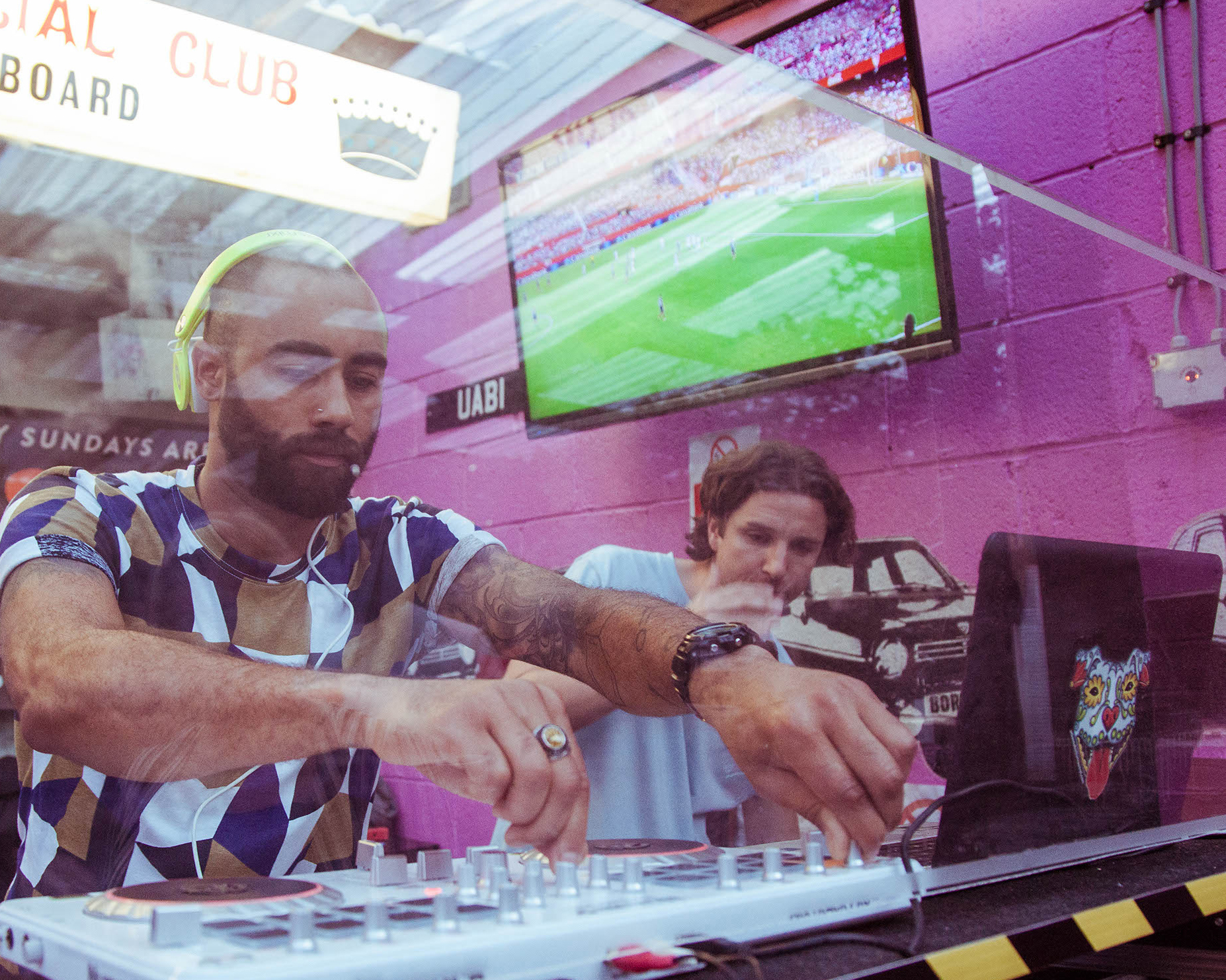 Football and Music Hit the Bar